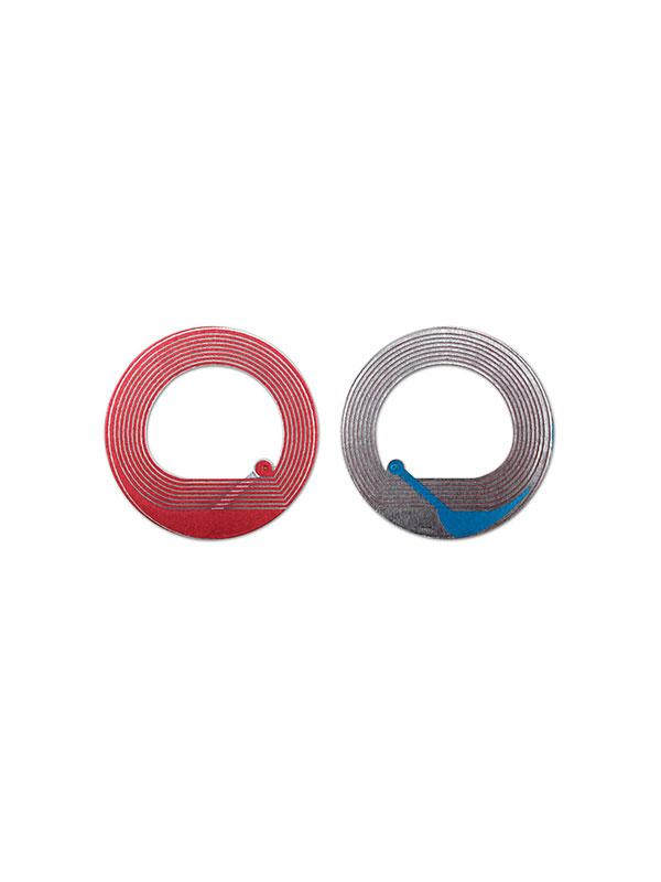 Радиочастотная защитная этикетка РЧ круглая прозрачная 40 ММ Ø (1000 шт./рулон)